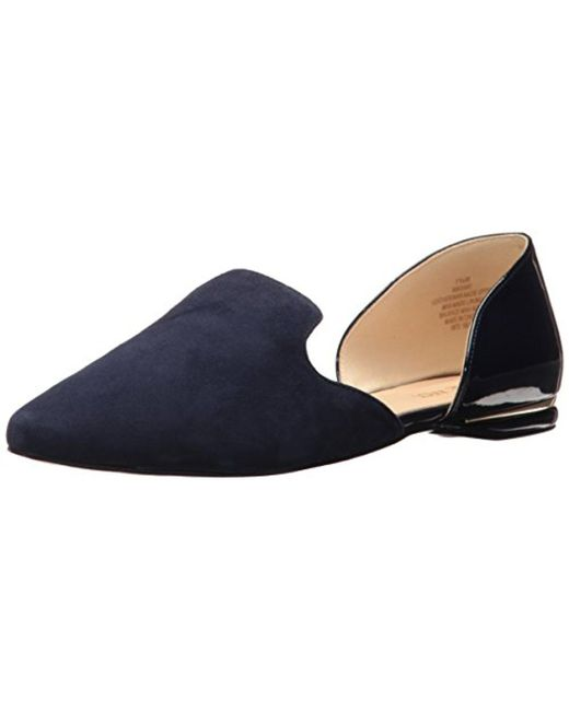 Nine West - Blue Shay Suede Pointed Toe Flat - Lyst