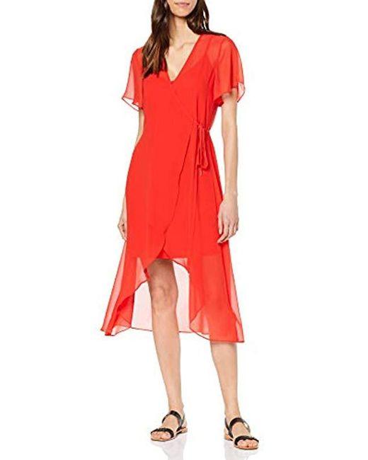 67aac0f04a91 Tommy Hilfiger - Red Tjw Wrap Dress - Lyst ...