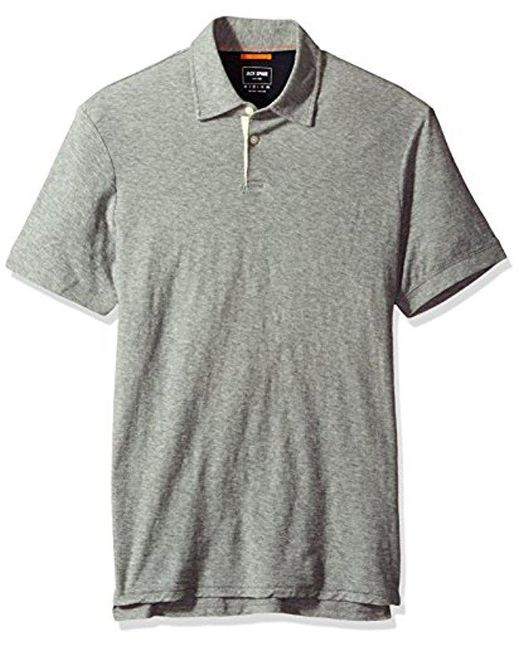 Jack Spade - Gray Lightweight Polo for Men - Lyst