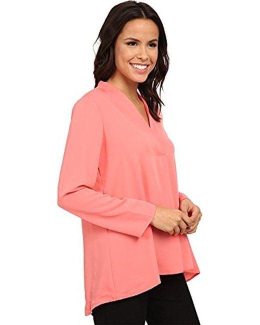 NIC+ZOE - Pink Majestic Matte Shirt - Lyst