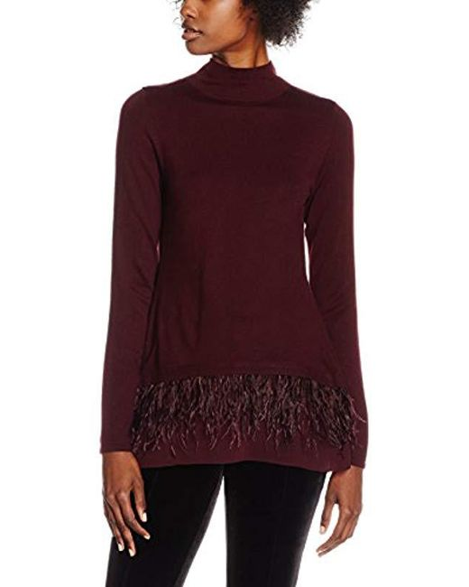 Coast - Purple Agnes Feather Hem Knit To Jumpers - Lyst