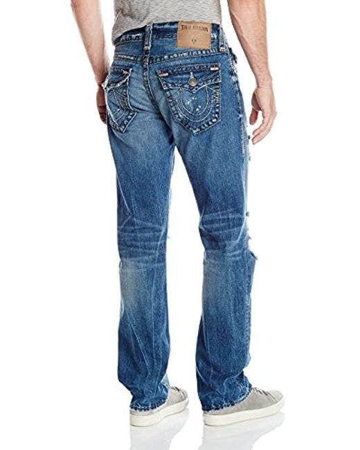 895e8601b ... True Religion - Blue Indigo Misfit Super T Ricky Relaxed Straight With  Flap Jean for Men