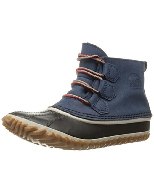 Sorel - Blue Out N About Leather Snow Boot - Lyst