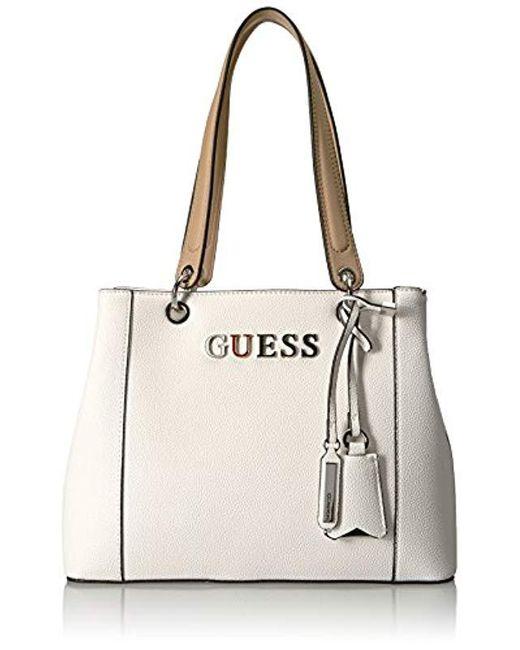 5fd184adff Sac à main pour femme blanc Medium Guess en coloris Blanc - 36 % de ...