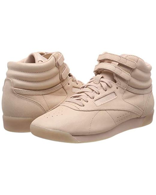 33cef65545fe Reebok Freestyle Hi-top Trainers in Natural - Save 45% - Lyst
