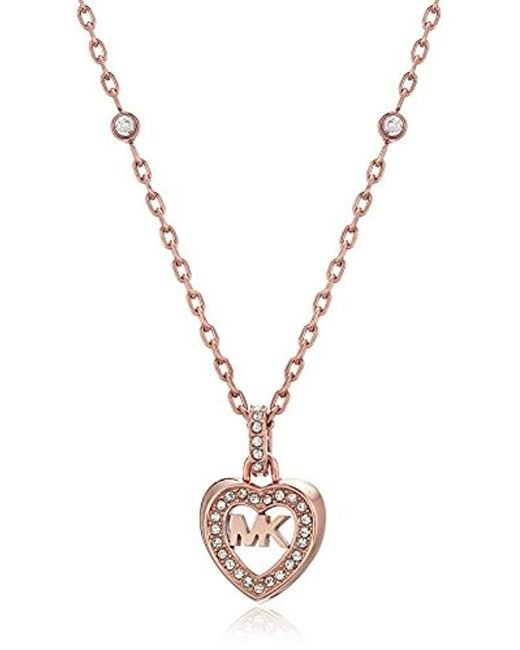 Michael Kors - Metallic S Heart Pendant Necklace, One Size - Lyst