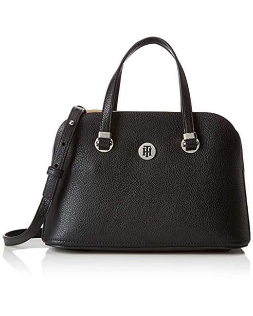 e0ed6332ad795 Tommy Hilfiger - Black Th Core Med Satchel Cross-body Bag - Lyst ...