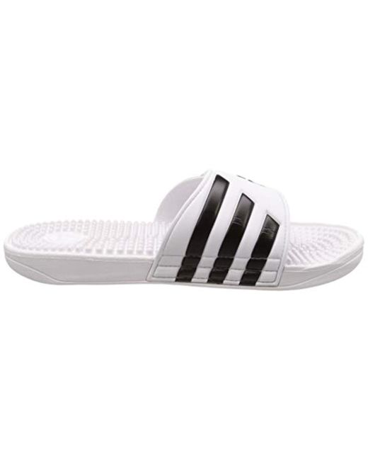 51086b646 adidas Adissage Beach   Pool Shoes in White for Men - Lyst