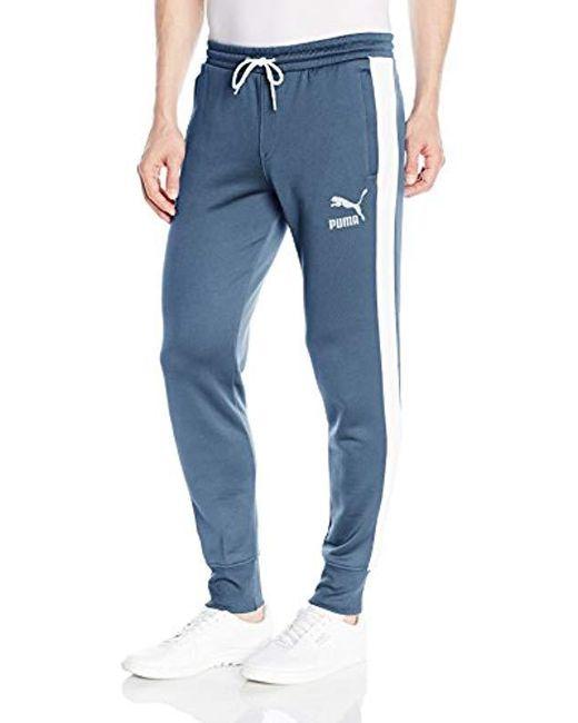 96cb1d91bb79 PUMA - Blue Archive T7 Track Pants for Men - Lyst ...