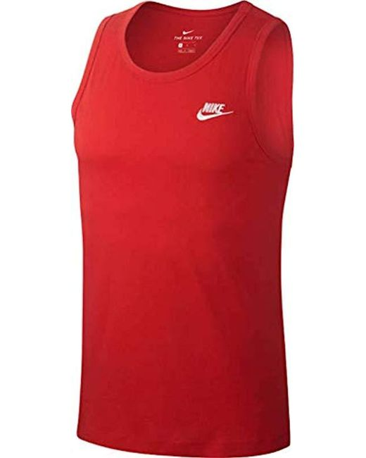 62185506bb171 Nike M Nsw Club Tank Top in Red for Men - Lyst