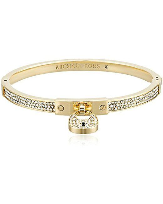 Michael Kors - Metallic Heritage Padlock Bangle Bracelet - Lyst