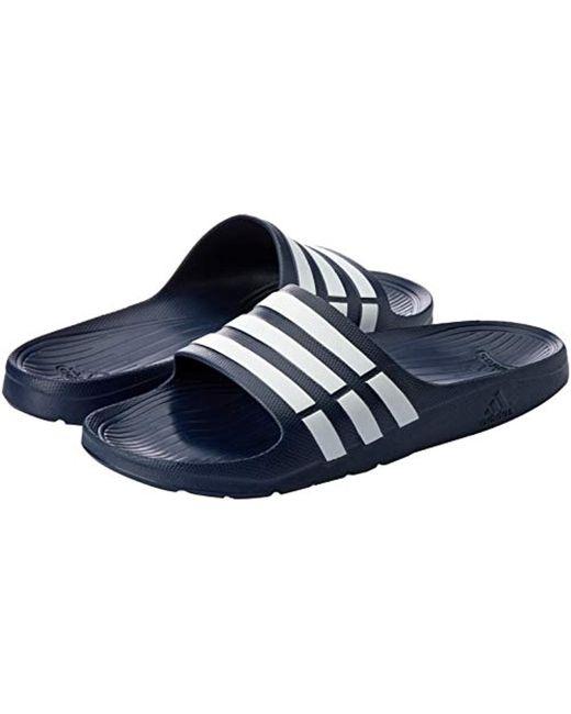 the best attitude f858f d130a ... Adidas - Blue Duramo Slide, Chanclas Unisex Adulto for Men - Lyst ...