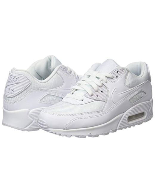 competitive price 562ef 79342 ... Nike - White Air Max 90 Leather, Trainers for Men - Lyst ...