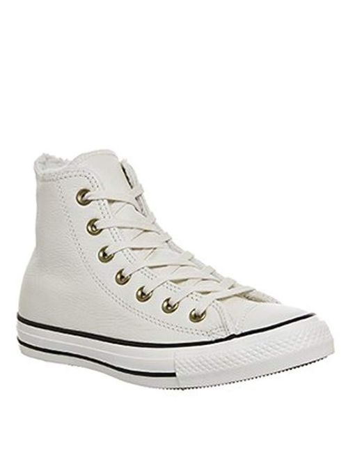 0db461159027 ... Converse - White Unisex Chuck Taylor As Hi Black Mono Basketball Shoes  for Men - Lyst
