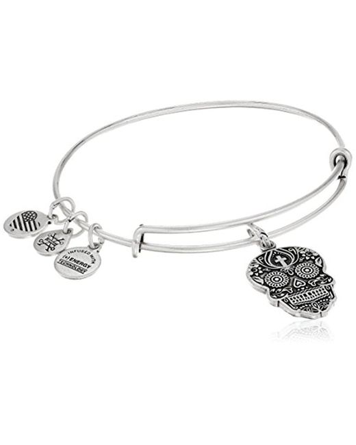 ALEX AND ANI - Metallic Calavera Rafaelian Bangle Bracelet - Lyst