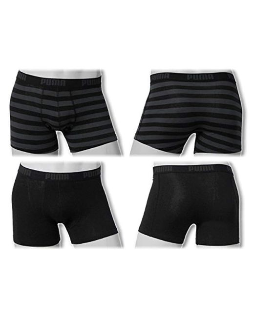 7a3e280187 PUMA - Black Striped 1515 Boxer Shorts (pack Of 2) for Men - Lyst picture