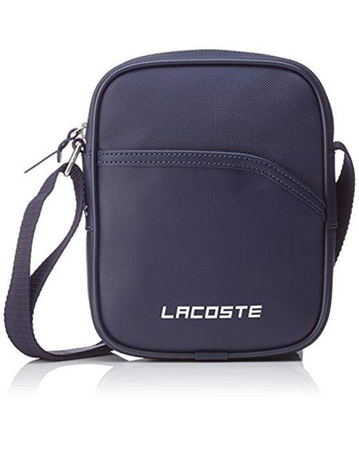 bf72c58262 Lacoste - Blue Sac Homme Access Basic Shoulder Bag for Men - Lyst ...