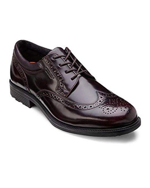 Rockport - Black Essential Details Waterproof Wingtip Oxford Shoe for Men - Lyst
