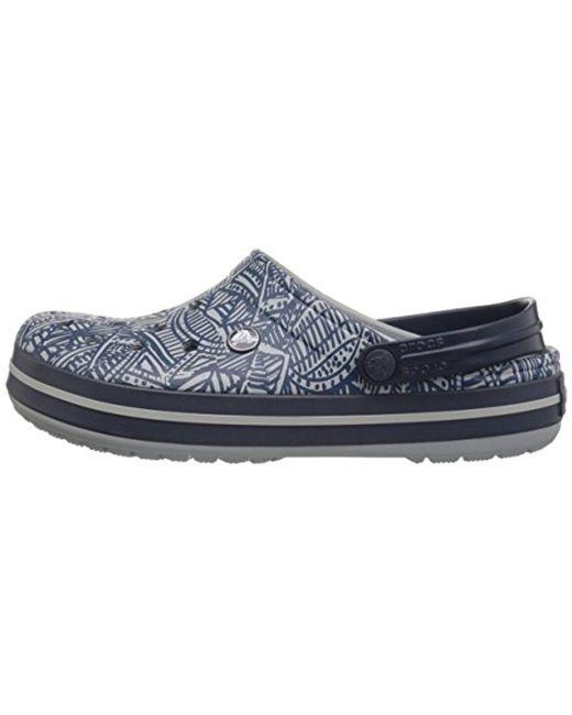Crocs CROCBAND GRAPHIC - Mules - light grey HjOPU