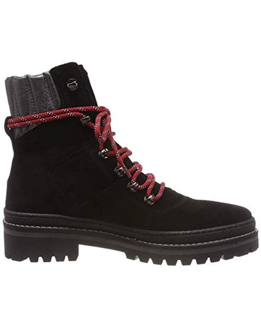 08cc55c83 ... Tommy Hilfiger - Black Modern Hiking Boot Suede Combat - Lyst ...