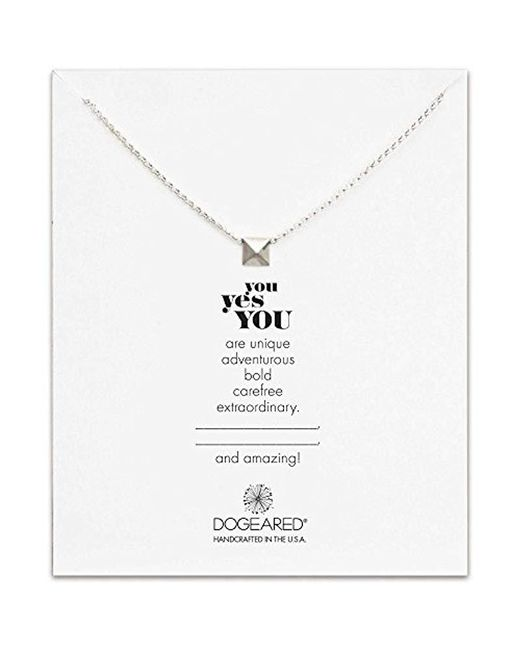 """Dogeared - Metallic Sterling Silver You Yes You Chain Necklace, 18"""" - Lyst"""