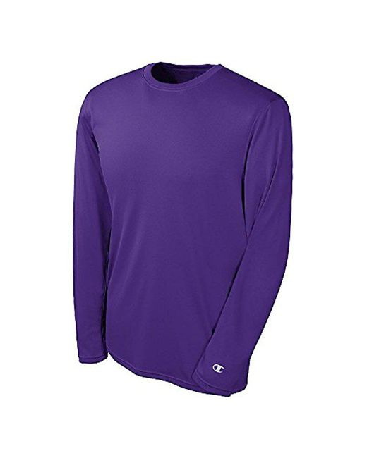 Champion - Purple Long-sleeve Double-dry Performance T-shirt for Men - Lyst