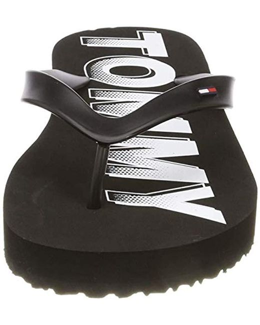 08699c390 ... Tommy Hilfiger - Black Hilfiger Denim Rubber Beach Sandal, 's Flip Flops  for Men ...