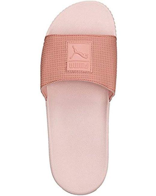 b388ebf3e340 PUMA - Pink Platform Slide Wns Ep Sandals - Lyst ...