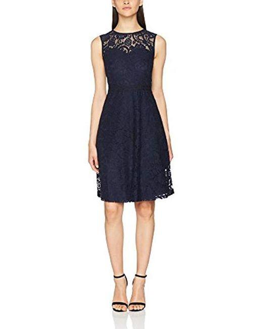 Dorothy Perkins - Blue Lace Trim Midi Dress - Lyst