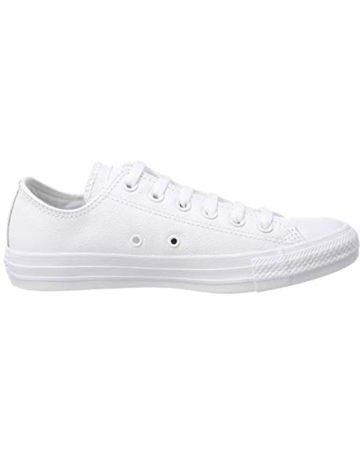 Converse Unisex Adults' Ct Ox WHT Low Top Sneakers