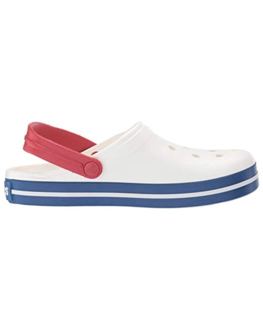 ff83aa397 ... Lyst Crocs™ - White Unisex Adults  Crocband U Clogs ...