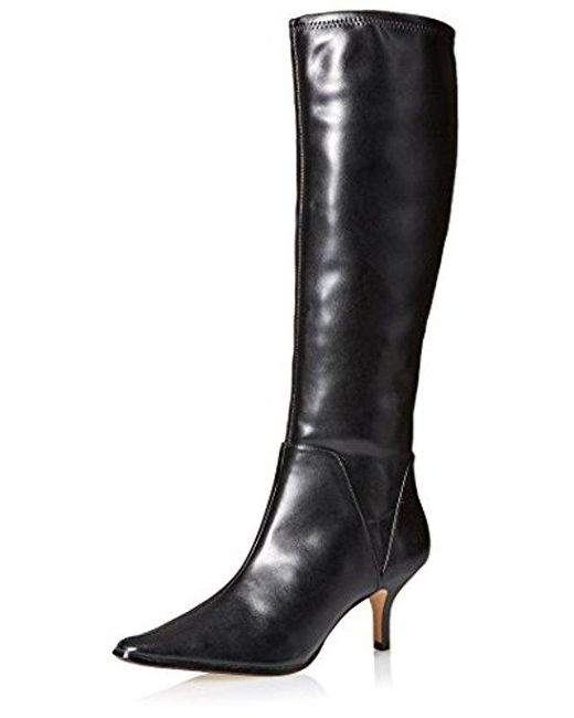 Donald J Pliner - Black Lena Pointed Toe Tall Stretch Boot - Lyst