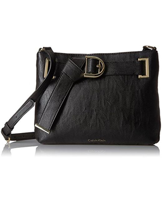 Calvin Klein - Black Nola Belted Top Zip Novelty Crossbody - Lyst