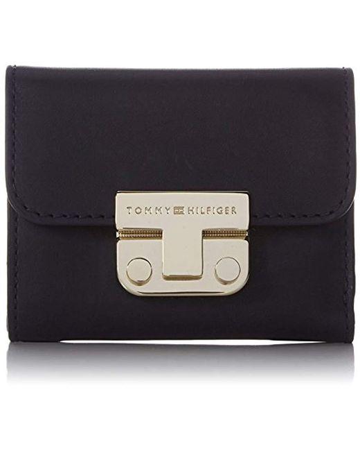 d426b624b7 Tommy Hilfiger - Blue S Fashion Hardware Small Flap Wallet Purse - Lyst ...