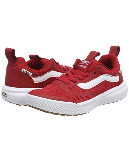 ... Lyst Vans - Red Unisex Adults  Ultrarange Rapidweld Trainers ... 7c6958212