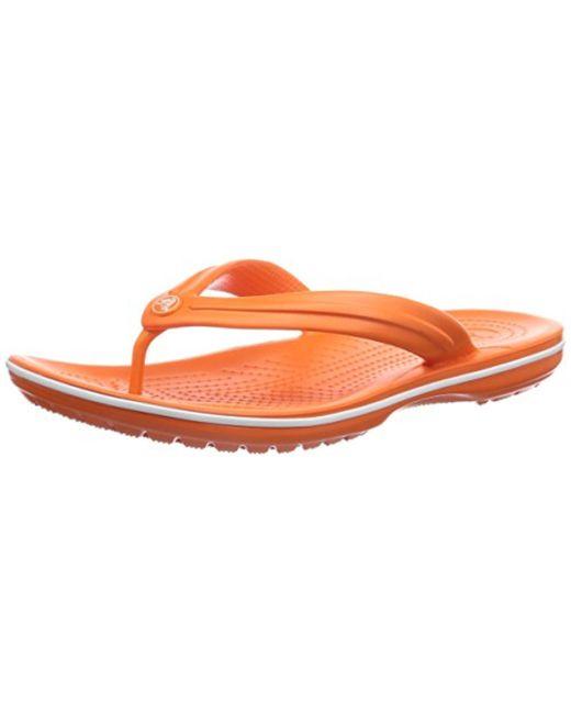 Crocs™ - Orange Unisex Crocband Flip - Lyst