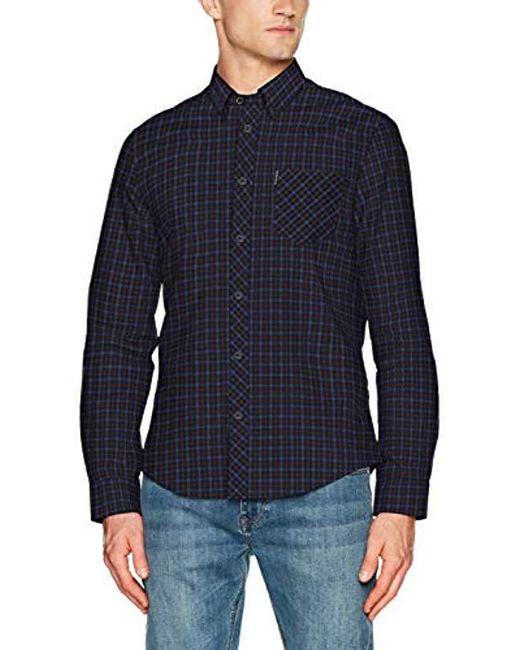 Ben Sherman - Blue House Check Casual Shirt for Men - Lyst