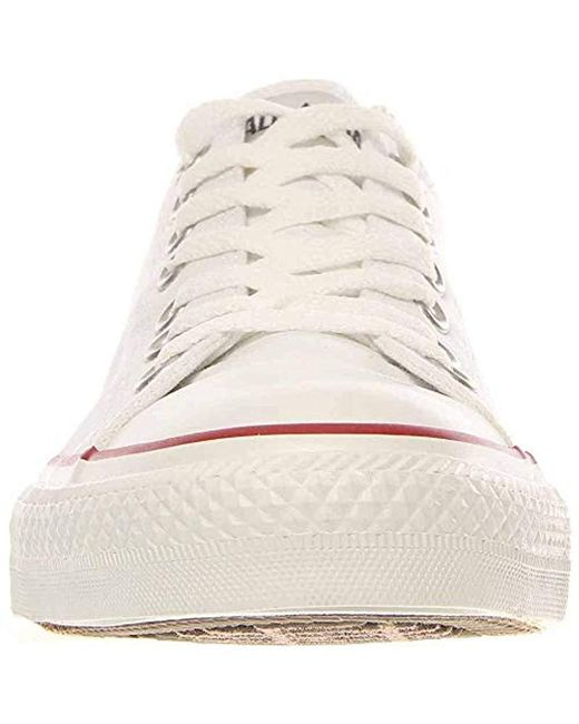 1e436810424367 ... Converse - Unisex Chuck Taylor All Star Low Top Optical White Sneakers  - 6 B( ...
