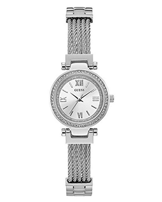 Guess - Metallic Stainless Steel Casual Wire Bangle Bracelet Watch - Lyst