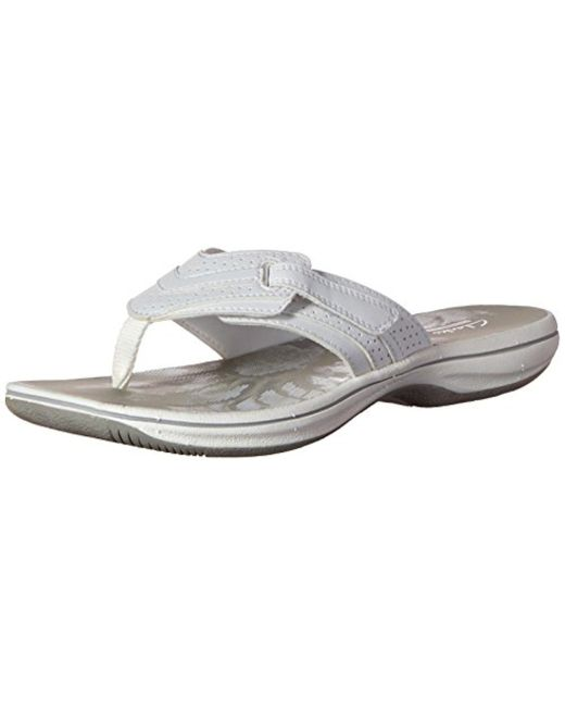 b7dced8f16038a Clarks - White Brinkley Keeley Flip-flop - Lyst ...