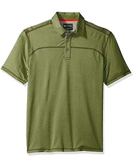 G.H.BASS - Green Explorer Textured Short Sleeve Polo for Men - Lyst
