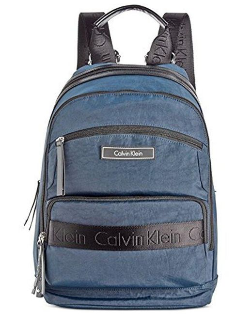 CALVIN KLEIN 205W39NYC - Blue Athliesure Nylon Backpack - Lyst