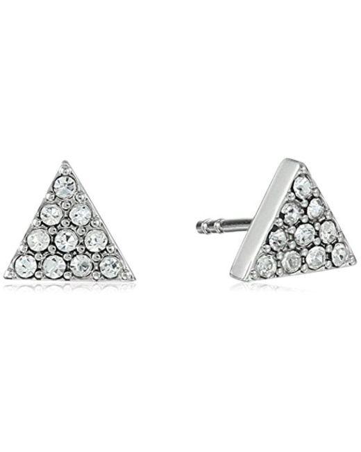 Fossil - Metallic S Triangle Ear Jackets Earrings - Lyst