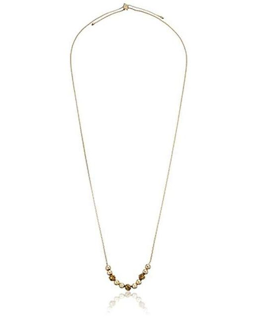 """Vera Bradley - Metallic """"baubles"""" Adjustable Gold Tone With Necklace, 34"""" - Lyst"""