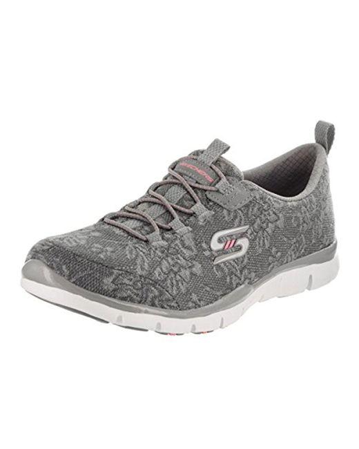 Skechers - Gray Sport Gratis Lacey Fashion Sneaker - Lyst