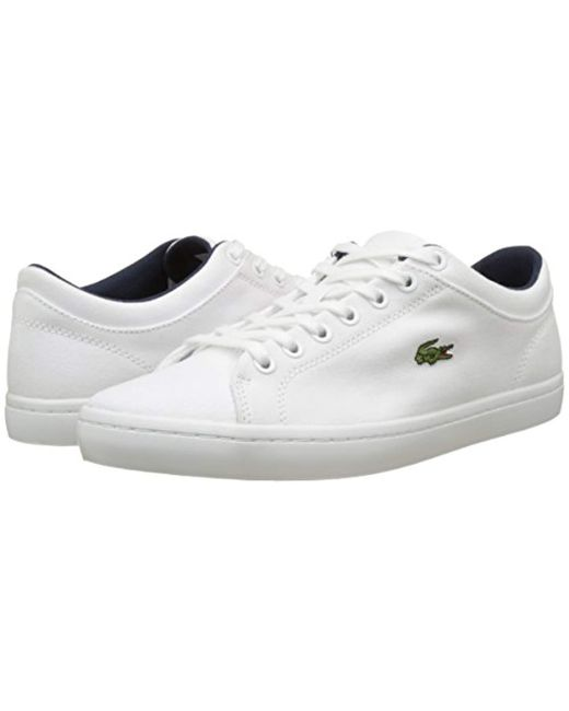 47e35ad51 ... Lacoste - White Straightset Bl 2 Cam Trainers for Men - Lyst ...