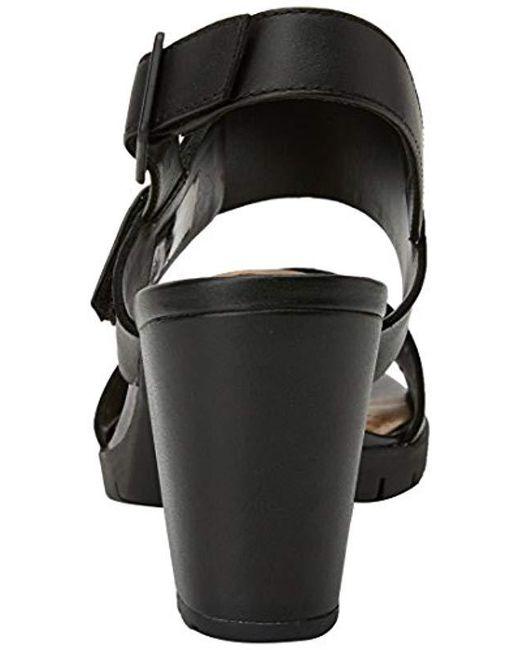 53900072fd57 Clarks  s Kurtley Shine Sling Back Sandals in Black - Lyst