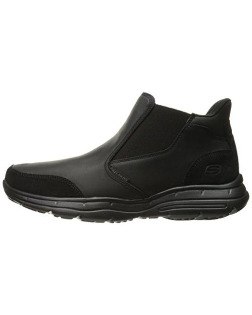 Skechers Usa Glides Porte Ankle Bootie in Black for Men Lyst