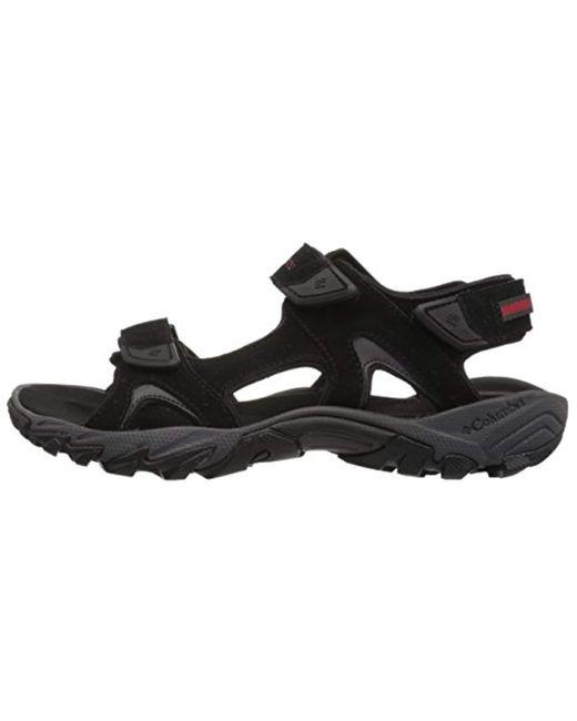 fd26d5998ff0 ... Columbia - Black Santiam 3 Strap Hiking Sandals for Men - Lyst ...