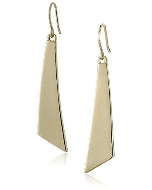 Kenneth Cole - Metallic Shiny Gold-tone Geometric Stick Linear Earrings - Lyst